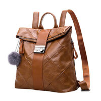 Women's Backpack Travel PU Leather Girls Shoulder School Bag Rucksack Handbag US