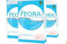 3X FEORA Anti Aging Natural Wrinkles White Supplements Dull Skin 452X F Capsules