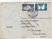 Switzerland 1948 Ascona cancel to Kent England stamps cover ref 21733