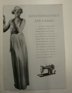 altes Prospekt Phoenix Nähmaschine Nr. 29 um 1930 Werbeblatt