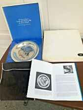 "1971 Franklin Mint Sterling Under The Mistletoe Norman Rockwell 8"" Plate 6.25oz"