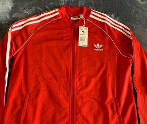 Adidas Originals Red Full Zip Superstar Track Jacket Trefoil Youth XL FM5662