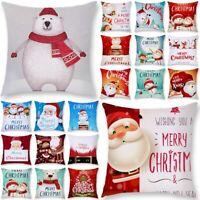 Kissenbezug Weihnachten Santa Kissenhülle Dekokissen Kopfkissenbezug Sofa Dekor