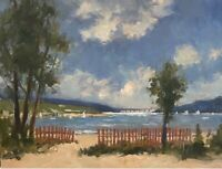 """Mount Hope Bay From Ocean Grove. Swansea,MA. Oil On Canvas. 11""""x 14.""""."""