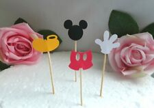 4 Mickey Mouse Cupcake Picks,Mickey Mouse Food Picks,Mickey Mouse Cake Picks
