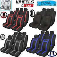 Universal PU Leather Type Car Seat Covers Full Set Wipe Clean to fit Ford