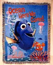 Disney FINDING DORY & NEMO TAPESTRY THROW Woven Blanket Wall Hanging Afghan USA