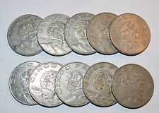 MEXICO lot CINCO PESOS vintage world D foreign Mexican one large 10 COINS