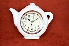 Wall Clock Kitchen Decorative Teapot Home Decor Retro Shape Rustic Coffee Shop
