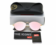 Ray-Ban RB3574N Blaze Round 001/E4 Gold Frame/Pink Mirror Lenses Sunglasses 59mm