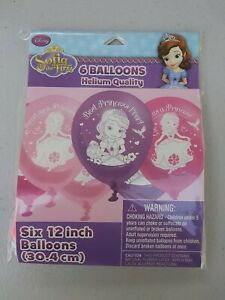 """Disney Sofia the First Latex Balloons Party Supplies Decorations 12"""" (6pcs)"""