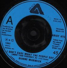 """DIONNE WARWICK i don't care what the people saywhat is this ARIST 475 7"""" WS EX/"""