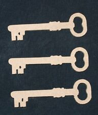 Pack of 3 MDF Santa Keys/Craft Shape