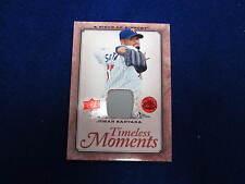 2008 Piece of History Johan Santana game used jersey card  Twins jsy gu  Mets