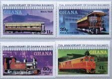 GHANA 1978 783-86 A 678-81 PERF Railroad Eisenbahn Train Züge Railway MNH