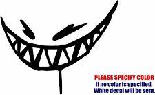 "Feed Me Grin Teeth Graphic Die Cut decal sticker Car Truck Boat Window 9"""