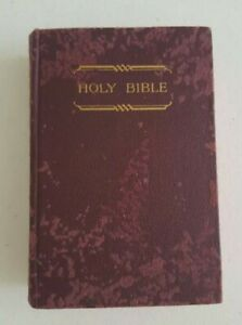 Holy Bible Maroon Hard Cover British & Foreign Bible Society Pocket Size