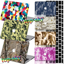 CAMO Camouflage Painted Hard Rubberized Case Keyboard Cover For Macbook Pro Air