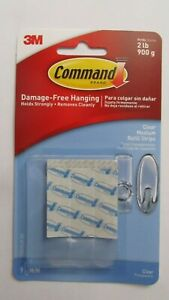 Command Clear Medium Refill Strips  Package of 9 strips  #17021CLR-ES  NEW