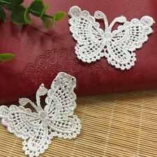1M Vintage Blanc Papillon Dentelle Crochet Ruban Applique Artisanat de mariage