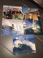 MICHEL BOUREZ SIGNED AUTOGRAPHED 8x10 PHOTOGRAPH (1) SURFER SURFING POLYNESIA
