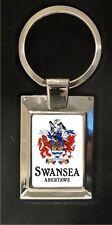 Swansea Crest - high polished metal keyring