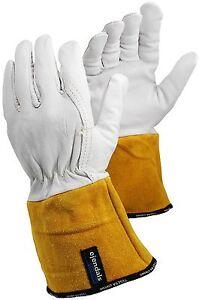 Tegera 130A Tig Mig Leather Welding Heat Resistant Work Gloves S M L XL XXL