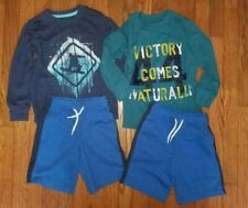 Boys Lot of 2 Outfits Shorts & Long Sleeve Shirts Cat & Jack Size 4/5