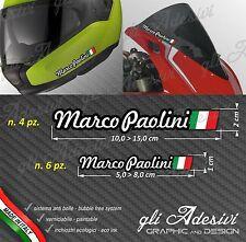 Set 10 Adesivi Stickers tuo Nome Casco Bici Moto Cupolino fondo nero
