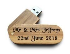 Personalised Wood 16GB USB Memory Stick Drive Wedding Photos Favour Gift Present