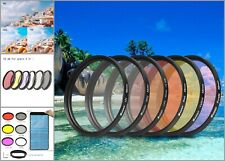 Aluminum UV Lens Filter Set For GoPro Waterproof Case With Adapter Ring Lens