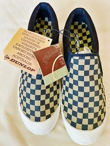 Dunlop Volleys RARE CHECKERBOARD Slip-On Was Exclusive To TARGET STORES Men UK 6