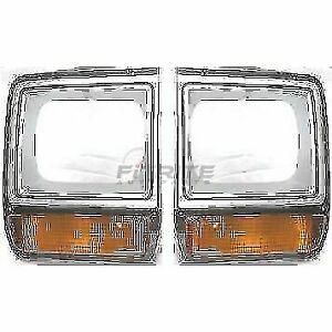 NEW LEFT & RIGHT HEAD LAMP DOOR FITS DODGE D150 1986-1990 CH2513122 CH2512122