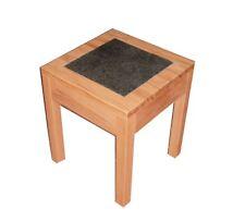 Beistelltisch, Blumenhocker,Tisch, Kernbuche  + Granit . 42x42x50cm hoch.