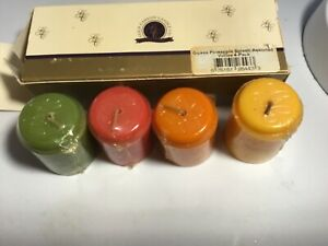 Gold Canyon Candles PINEAPPLE ASSORTED VOTIVE 4 pc SET SHIP FREE Fruit scent NEW
