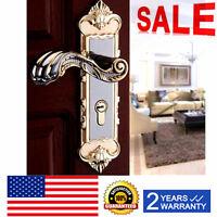 Continental Gold Antique Interior Privacy Door Knob Handle Locks Set + 3 Keys US