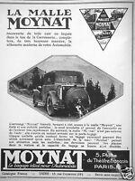 PUBLICITÉ DE PRESSE 1927 LA MALLE MOYNAT POUR VOTRE AUTOMOBILE - ADVERTISING