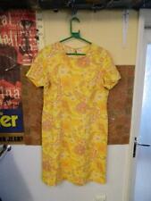 Vintage 1970's Yellow Floral Pattern Dress