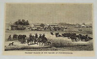 1881 magazine engraving ~ TRADER'S WAGONS AT POTCHEFSTROOM ~ South Africa