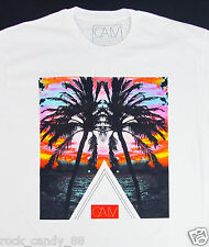 CALIFORNIA LOVE Palm Tree Mirror T-shirt Cali Beach Tee Adult SMALL White New