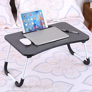 Laptop Table, Foldable Portable Lap Standing Desk with Cup Slot,Adjustable Table
