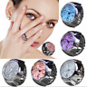 Creative Couple Dial Quartz Analog Watch Steel Elastic Quartz Finger Ring Watch