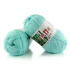 Wholesale! Wool colors Super Soft Natural Smooth Bamboo Cotton Knitting Yarn