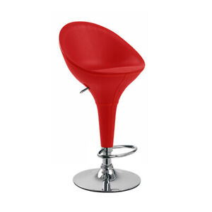 """Modern Home Bombo """"Leather"""" Style High Back Adjustable Height Bar/Counter Stool"""