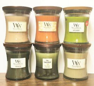 WoodWick Candles MEDIUM VASE JARS 9.7 oz 10 oz Soy Wax Yankee Candle - 7 CHOICES