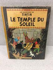 COLLECTION TINTIN HERGE TINTIN LE TEMPLE DU SOLEIL B22 BIS 1957