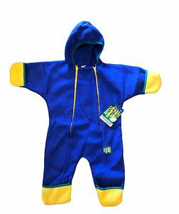 Toddler Infant Boy Sz 18-24 Month Ecology Kids Zipper Down Snow Suit Blue Yellow