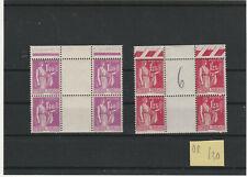 FRANCE NEUFS PERIODE 1930/1940PAIX N° 370 ET 371  BLOC DE 4   liquidatn