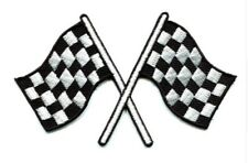 Chequered Flag Patch Formula 1 Motor Racing Sport Embroidered Iron Sew On F1 Car