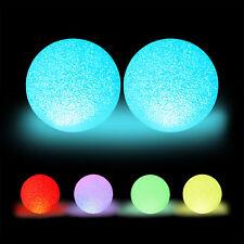 2 x LED Kugelleuchte Farbwechsel Leuchtkugel Batterie Stimmungslicht Lichtkugel